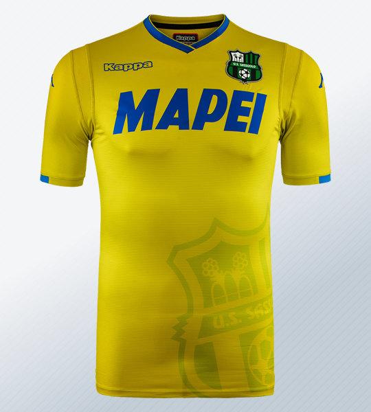 Tercera camiseta 2018/19 del Sassuolo | Imagen Kappa
