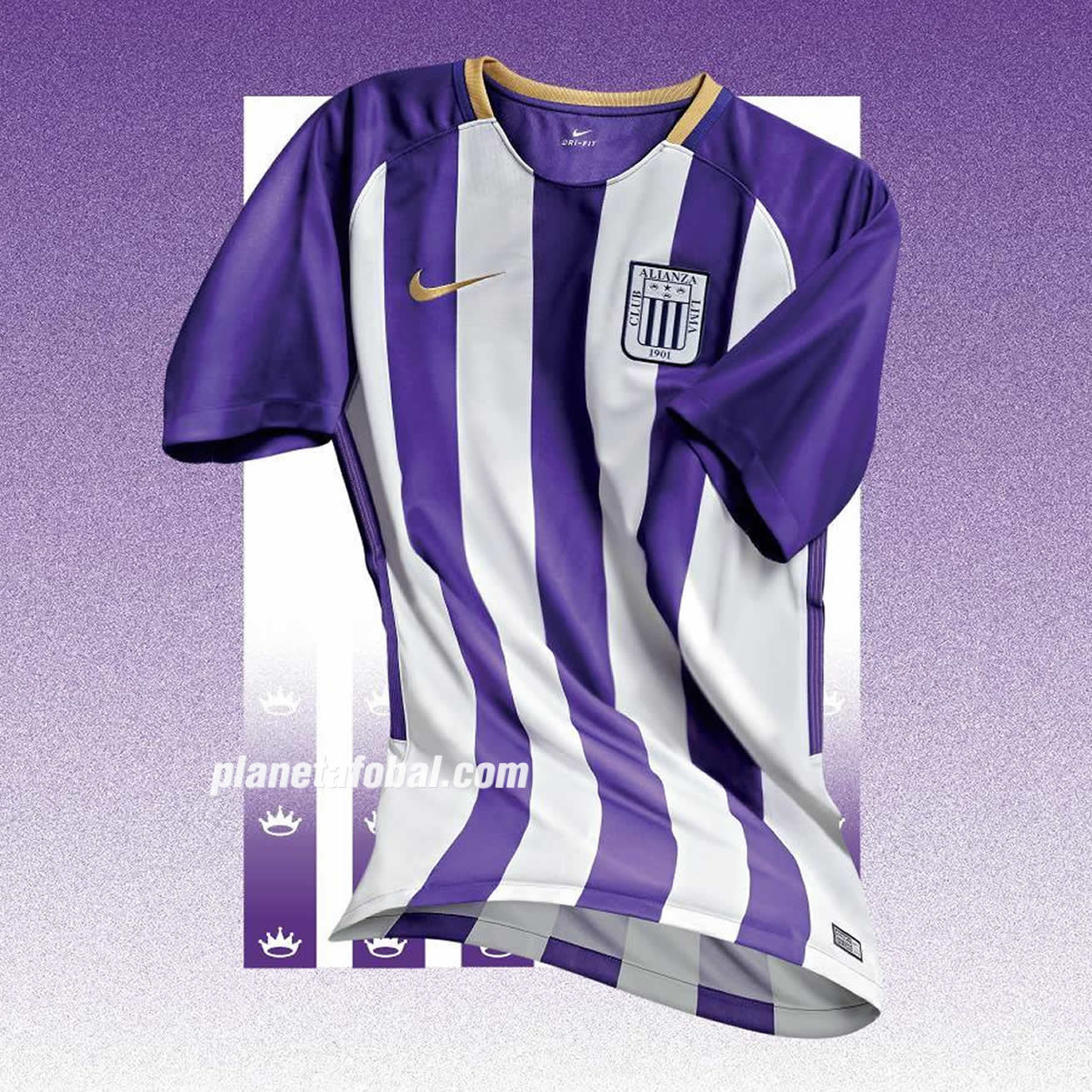 "Camiseta Nike ""blanquimorada"" de Alianza Lima 2018 | Foto Twitter Oficial"