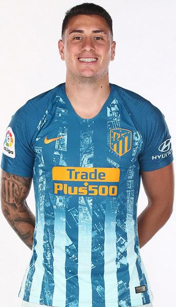 Gimenez con la tercera camiseta del Atlético de Madrid 2018/19 | Imagen Web Oficial