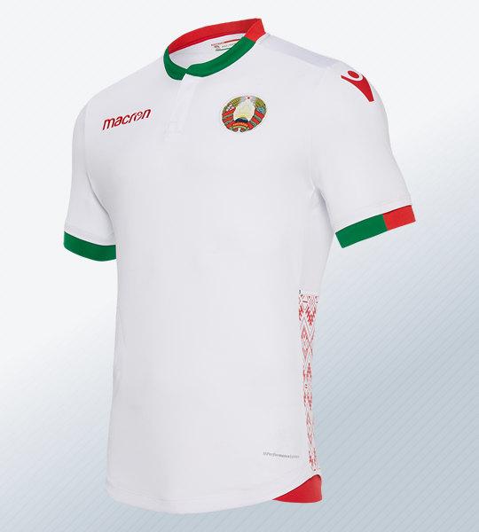 Camiseta titular 2018/19 de Bielorrusia | Imagen Macron