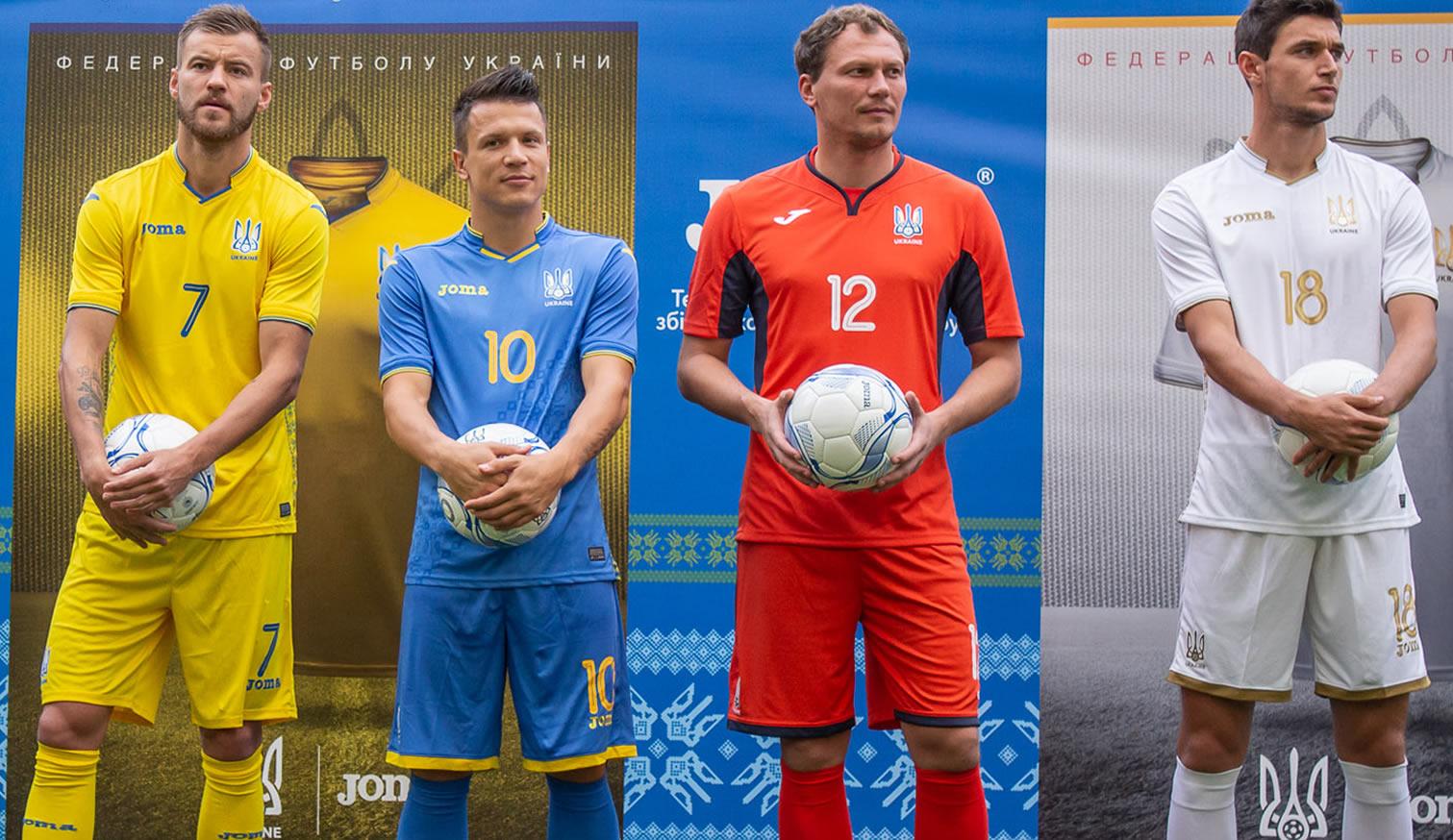 Camisetas Joma de Ucrania | Imagen Twitter FFU