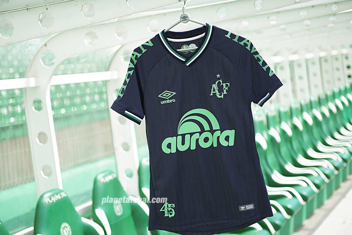 Tercera camiseta Umbro del Chapecoense 2018/19 | Imagen Twitter Oficial