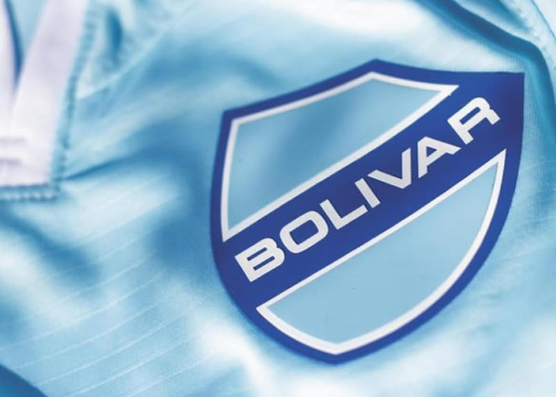 Camiseta titular Joma del Club Bolívar 2018/19   Imagen Twitter Oficial
