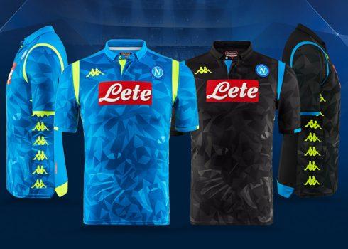 Camisetas Kappa del Napoli UCL 2018/19   Imagen Web Oficial