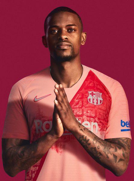Semedo con la tercera camiseta del Barcelona 2018/2019   Imagen Nike