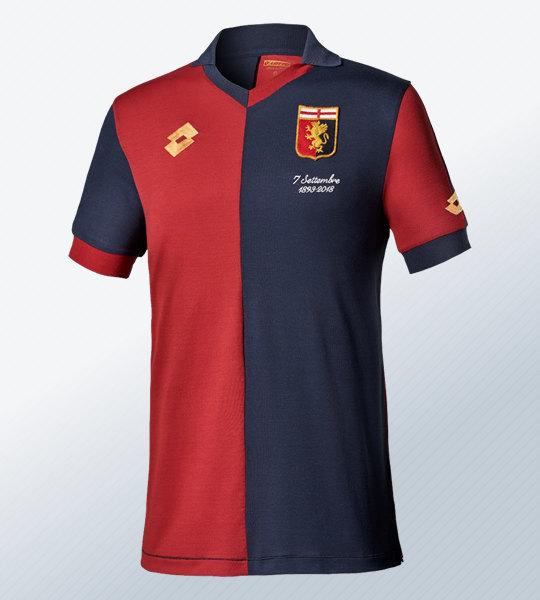 Camiseta especial Lotto por el 125 aniversario del Genoa CFC | Imagen Web Oficial