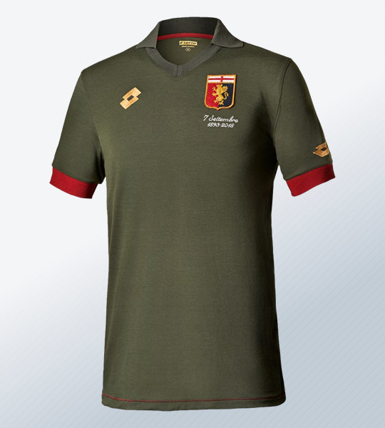 Camiseta de arquero Lotto por el 125 aniversario del Genoa CFC | Imagen Web Oficial