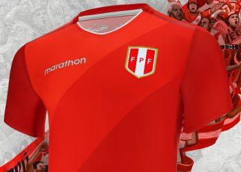 Camiseta alterna de Perú 2018/19 | Imagen Marathon Sports