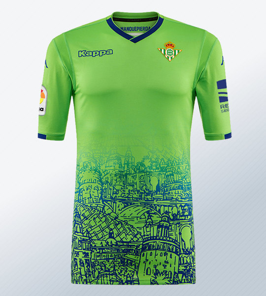 Tercera camiseta Kappa 2018/2019 del Betis   Imagen Web Oficial