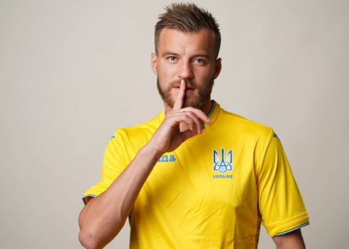 Camiseta titular Joma de Ucrania | Imagen Twitter FFU