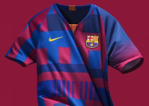 Camiseta del Barcelona 20 Aniversario junto a Nike