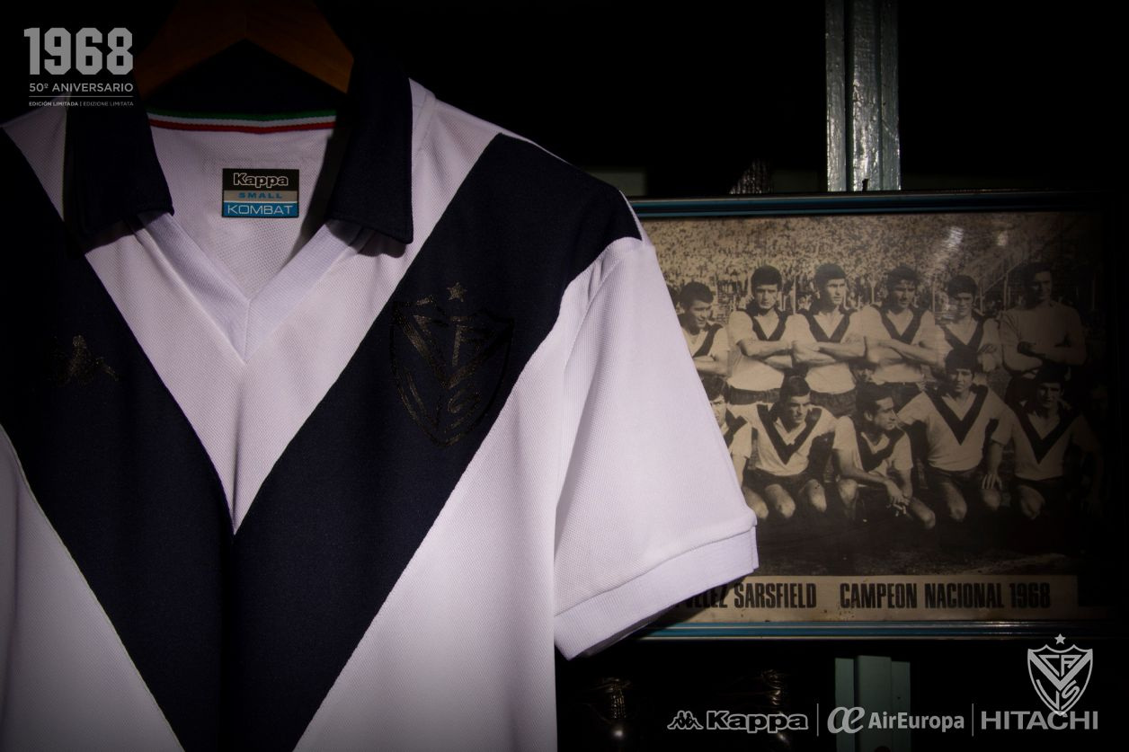 "Camiseta Kappa de Vélez Sarsfield ""Homenaje 68"" | Imagen Web Oficial"