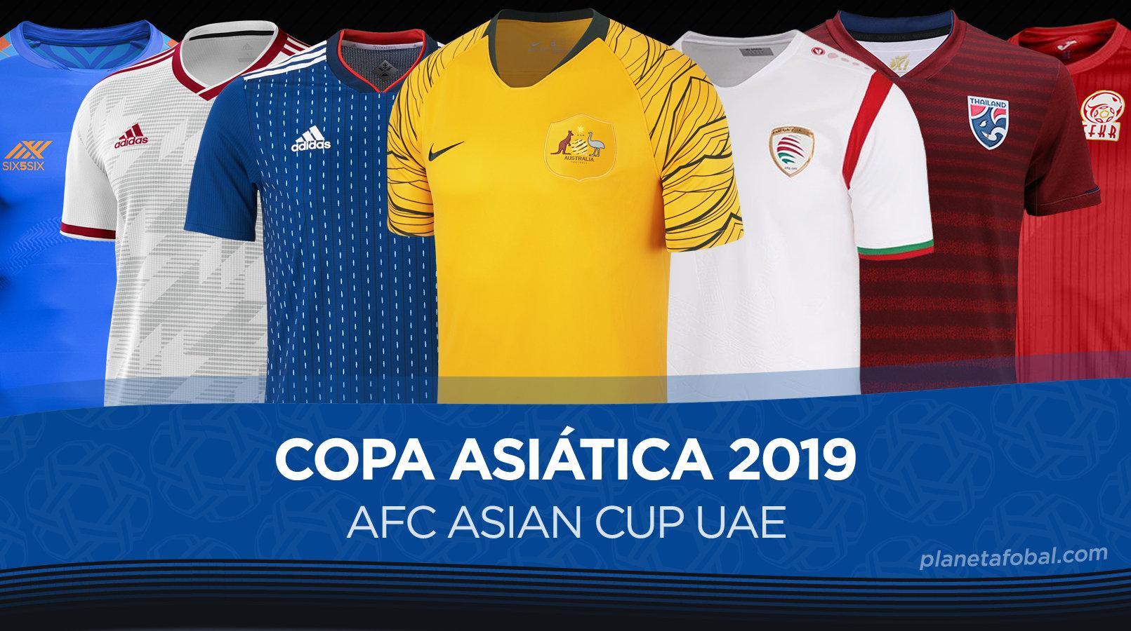R Costoso Máquina de recepción  Camisetas de la AFC Asian Cup 2019