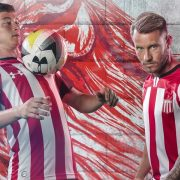 Camiseta titular Under Armour de Estudiantes LP 2019 | Imagen Web Oficial