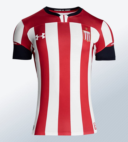 Camiseta titular Under Armour de Estudiantes LP 2019 | Imagen Web Oficial