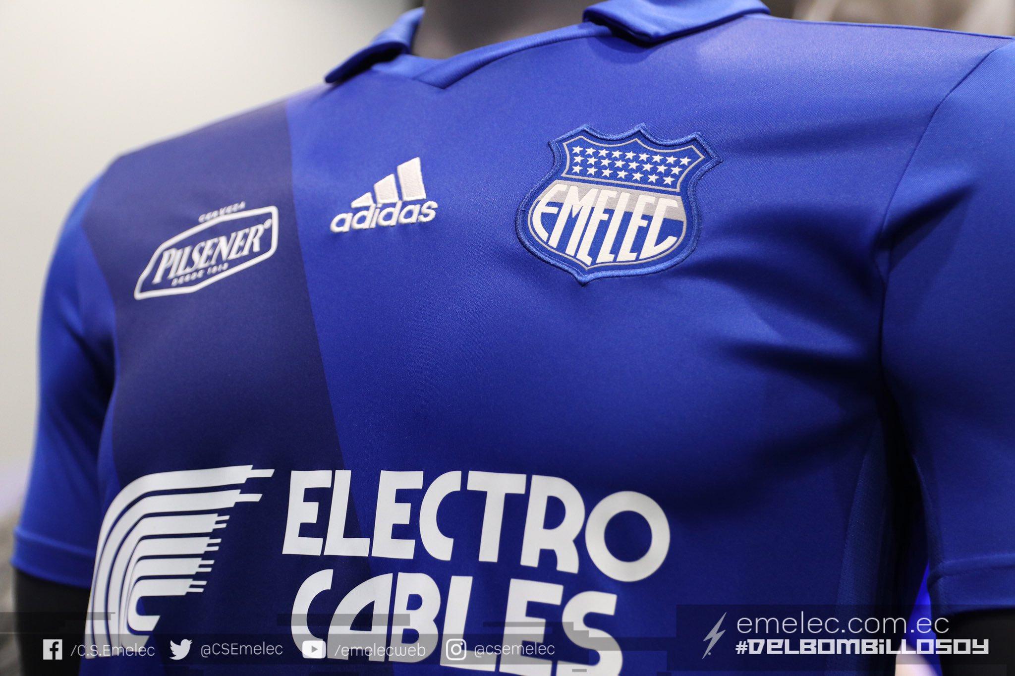 Camiseta titular Adidas del Emelec 2019 | Imagen Twitter Oficial