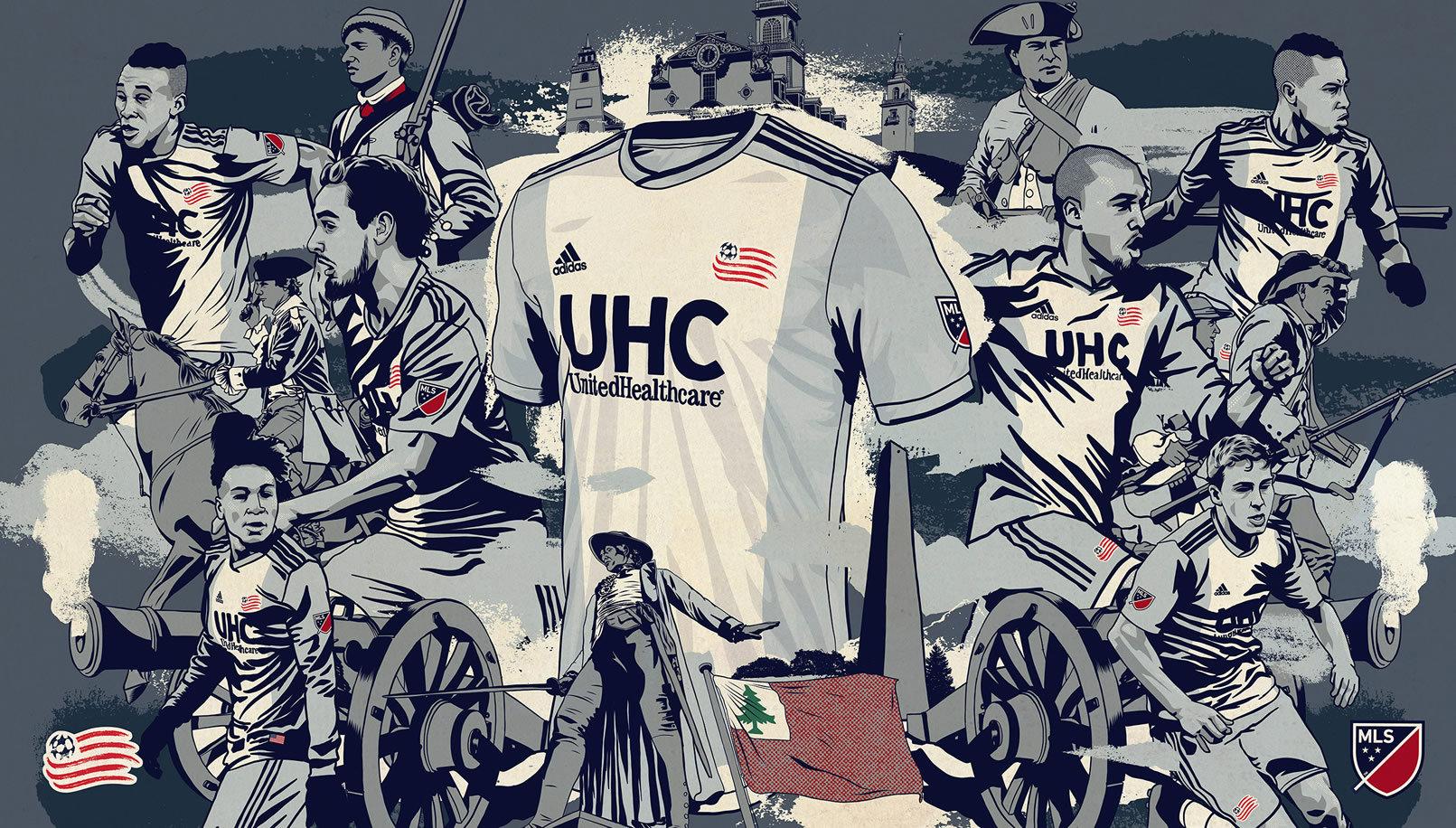 Camiseta suplente Adidas del New England Revolution 2019/20 | Imagen MLS