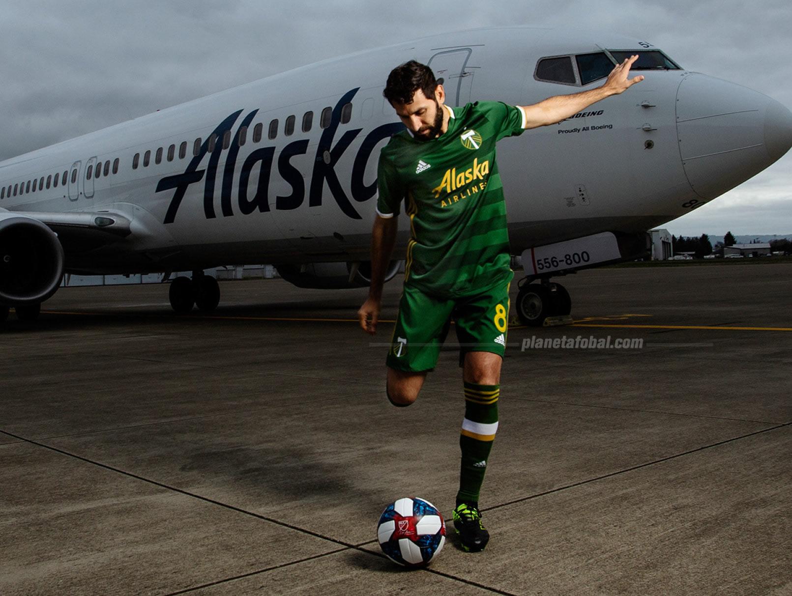 Diego Valeri con la camiseta titular Adidas del Portland Timbers 2019/2020 | Imagen Web Oficial