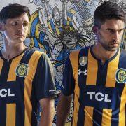 Camiseta titular Under Armour de Rosario Central 2019   Imagen Twitter Oficial