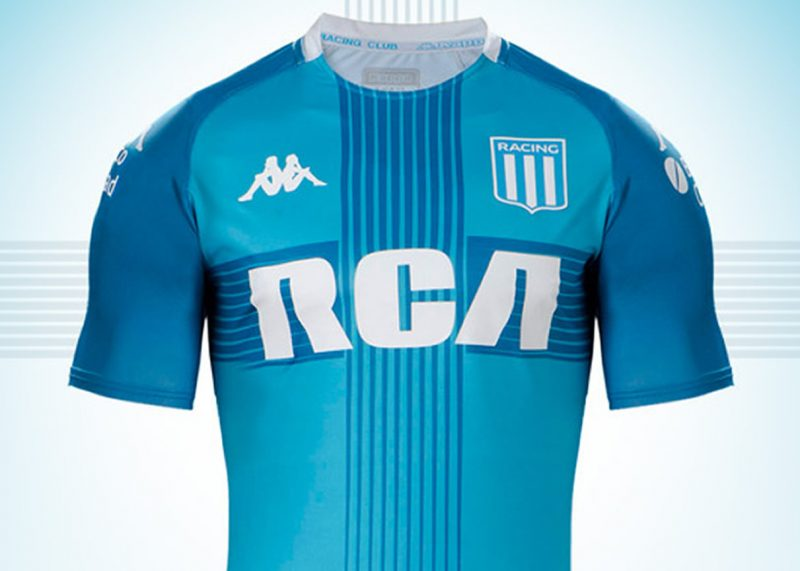 Camiseta Kappa de Racing Copa Sudamericana 2019   Imagen Web Oficial