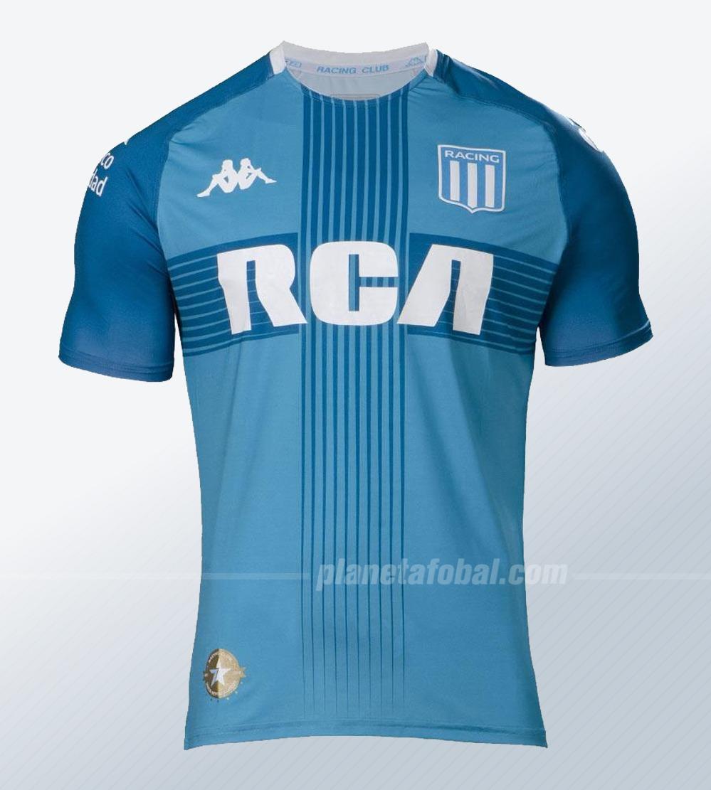 Camiseta Kappa de Racing Copa Sudamericana 2019 | Imagen Web Oficial