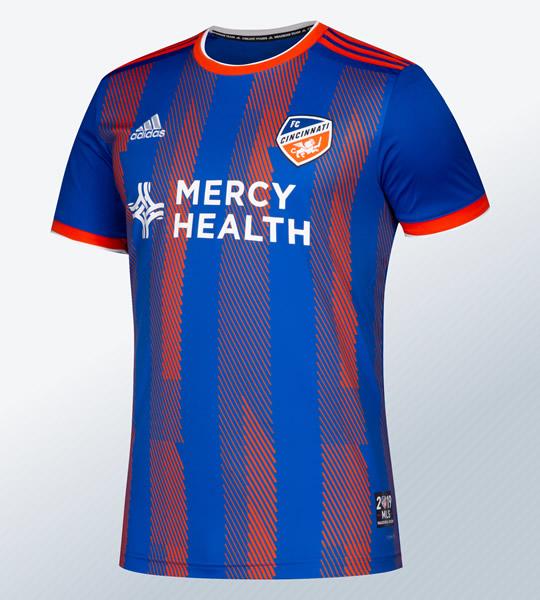 Camisetas Adidas del FC Cincinnati MLS 2019 | Imagen Web Oficial
