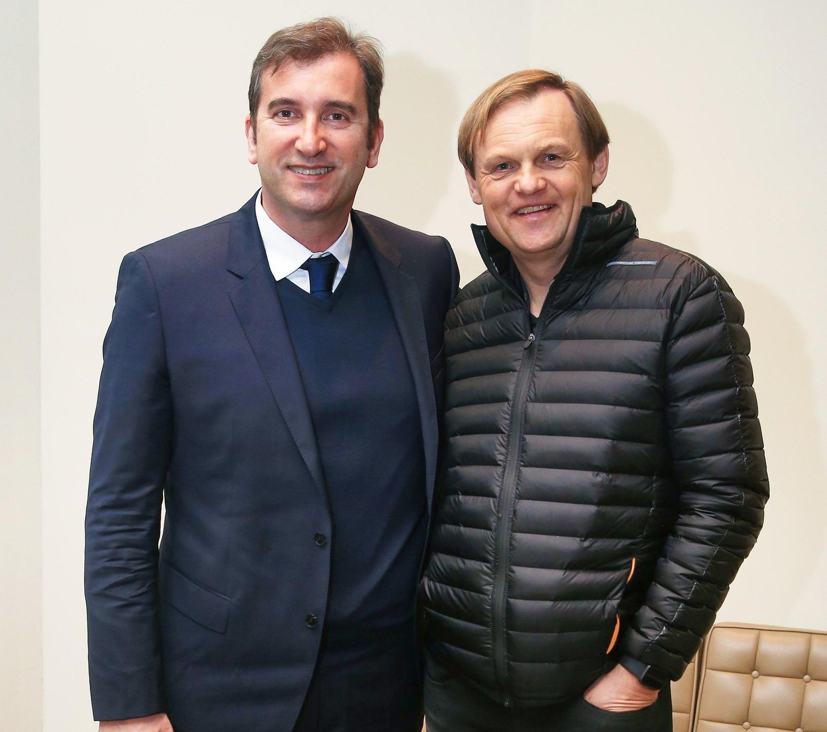 Ferran Soriano -CEO del City- y Bjørn Gulden -CEO de Puma- en la firma del contrato | Imagen Puma