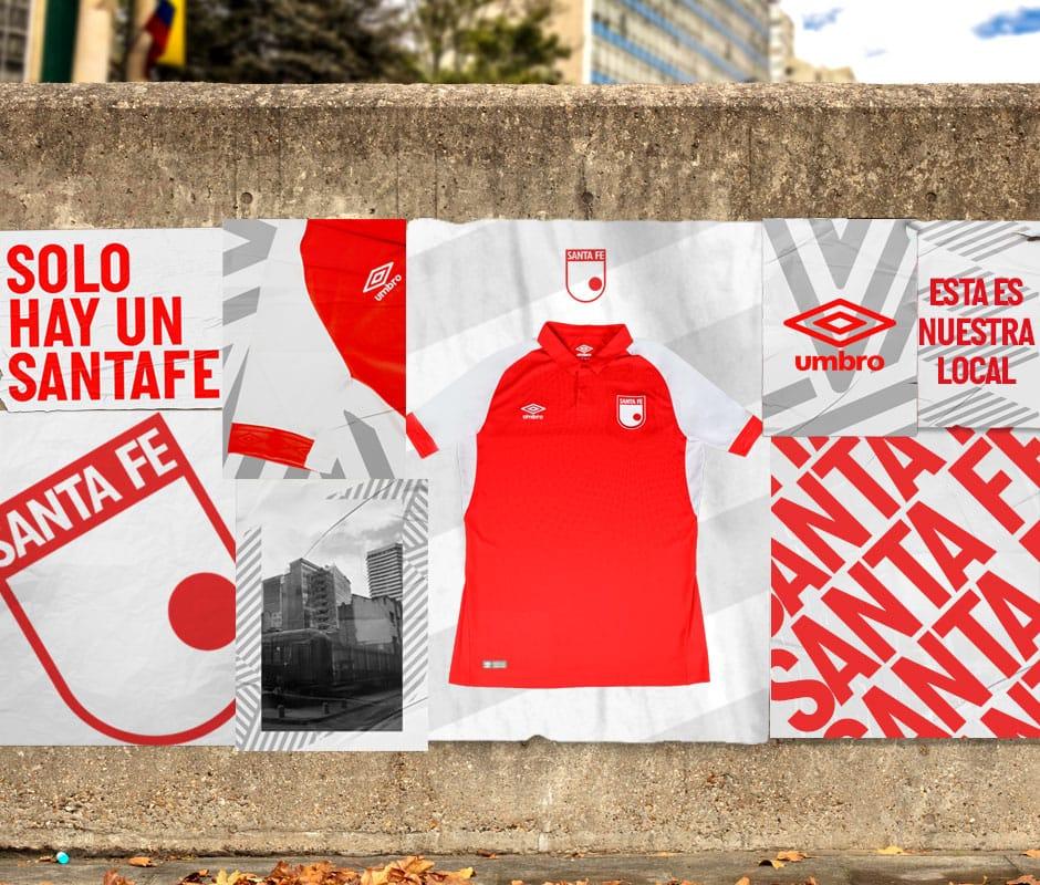 Camiseta titular Umbro 2019 de Santa Fe | Imagen Twitter Oficial