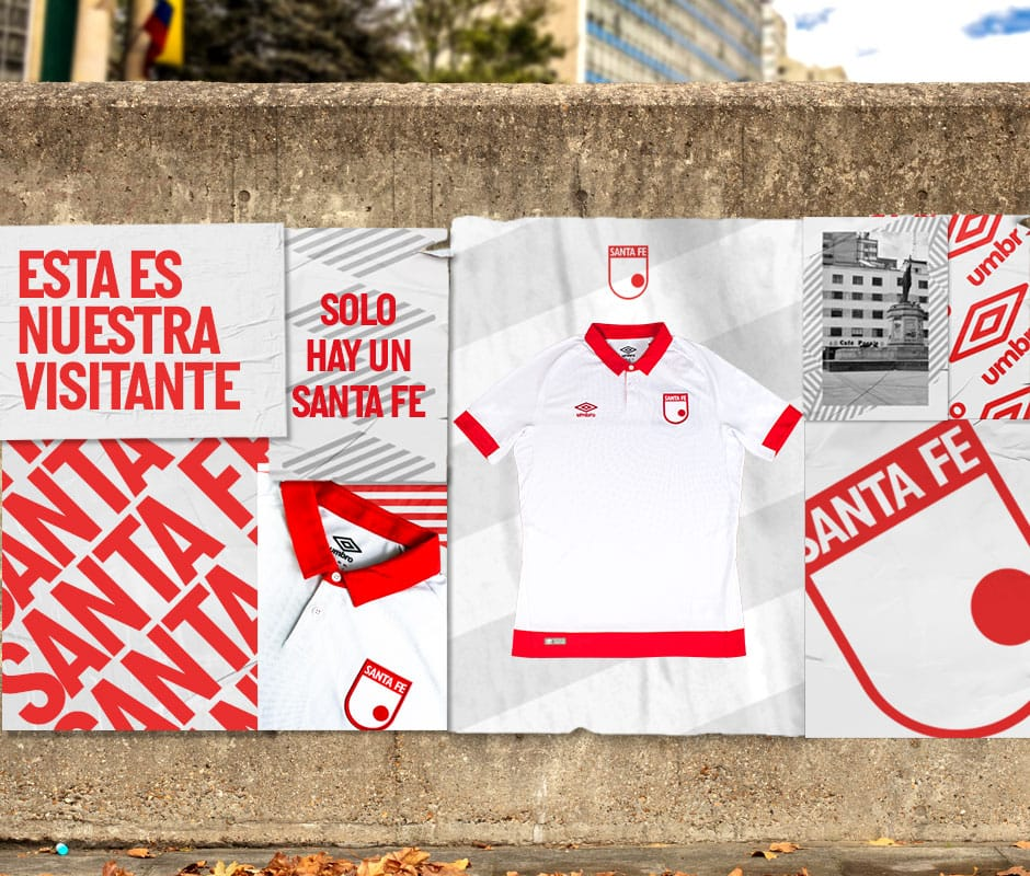 Camiseta visitante Umbro 2019 de Santa Fe | Imagen Twitter Oficial