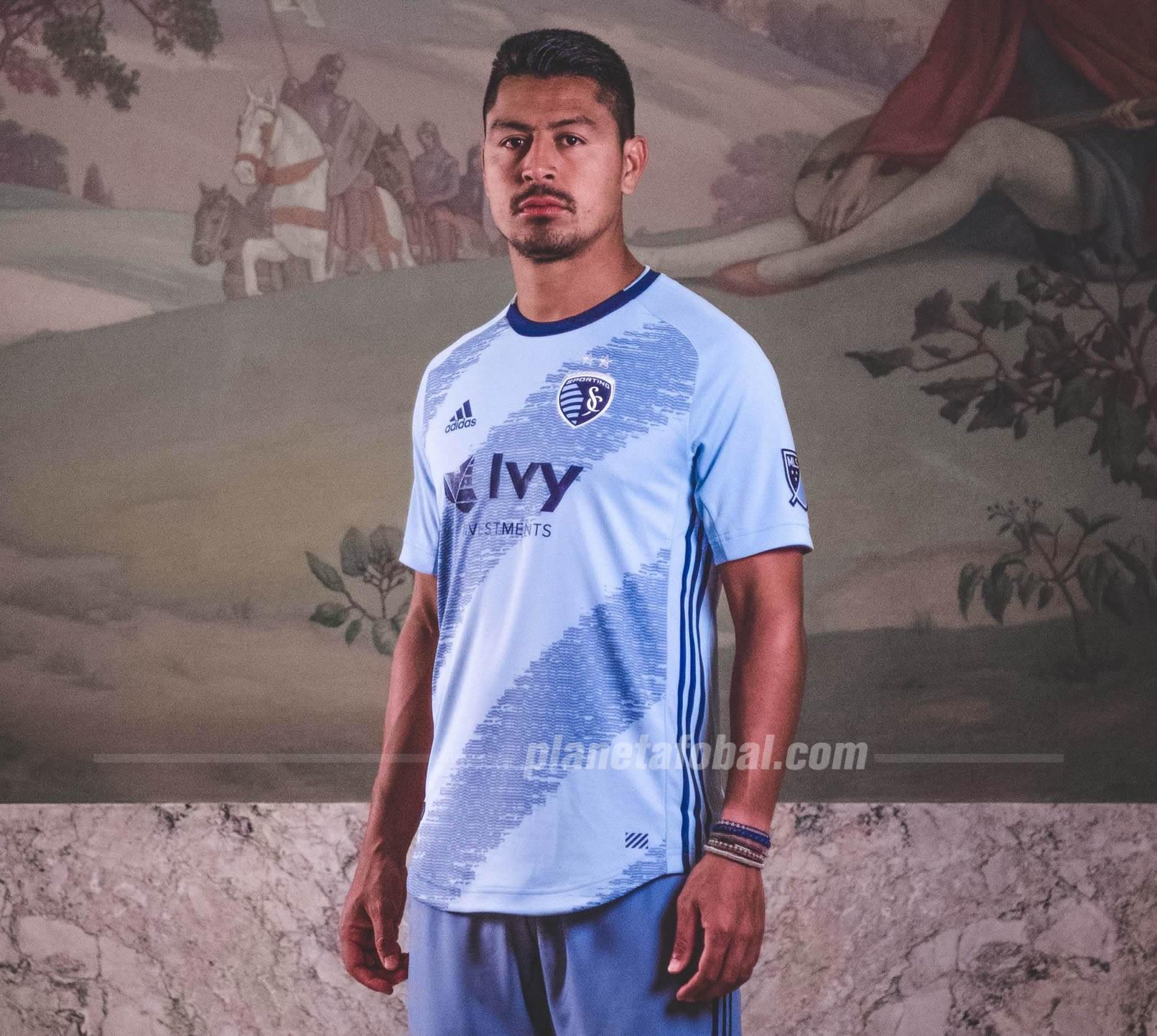 Camiseta titular Adidas del Sporting Kansas City 2019/20 | Imagen Web Oficial