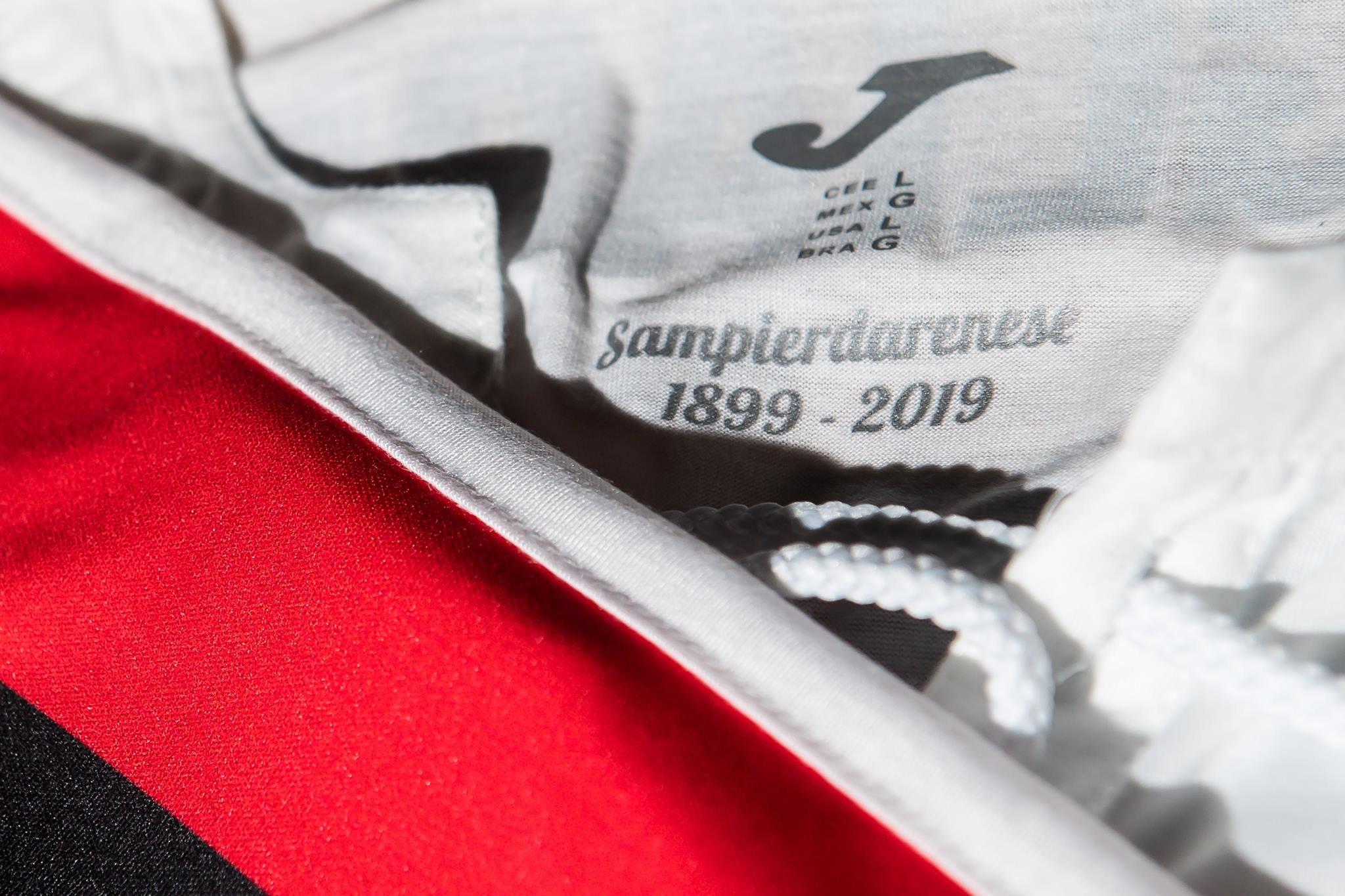 Camiseta Edición Limitada Joma de la Sampdoria 2019 | Imagen Web Oficial