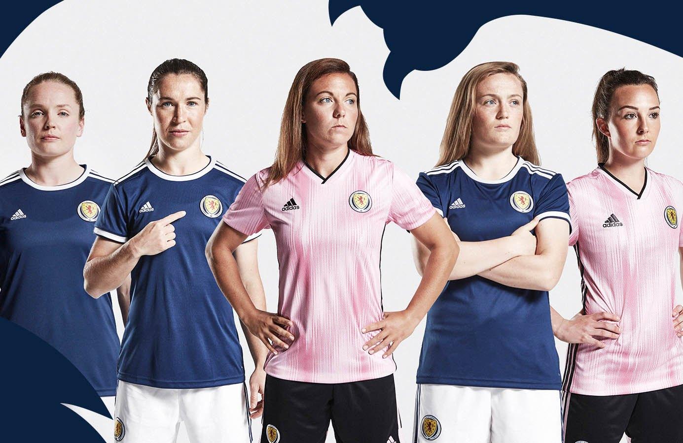 Camisetas Adidas de Escocia Mundial 2019 | Imagen Scottish FA