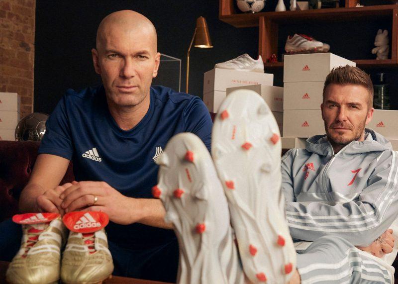 Zidane y Beckham con los Predator 25 Aniversario   Imagen Adidas