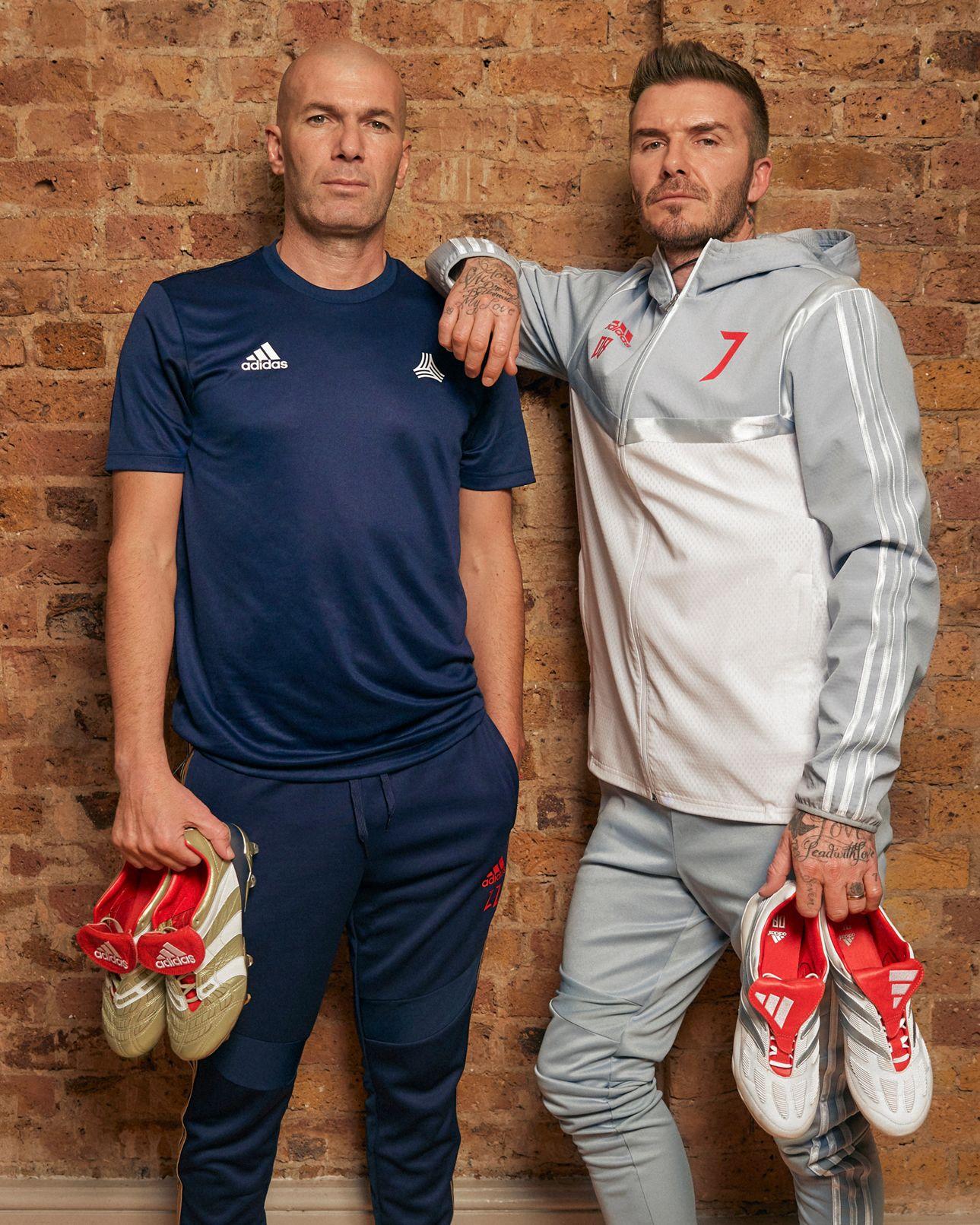 Zidane y Beckham con los Predator 25 Aniversario | Imagen Adidas