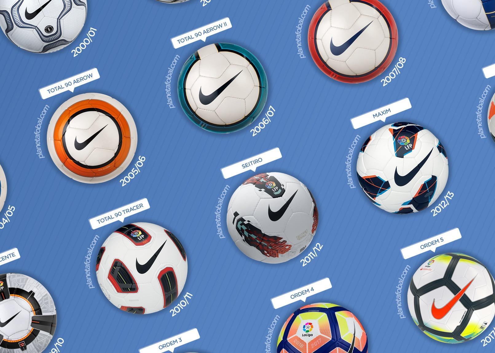 Cumbre ángel Judías verdes  Los balones Nike de LaLiga (1996-2019) | Infografías