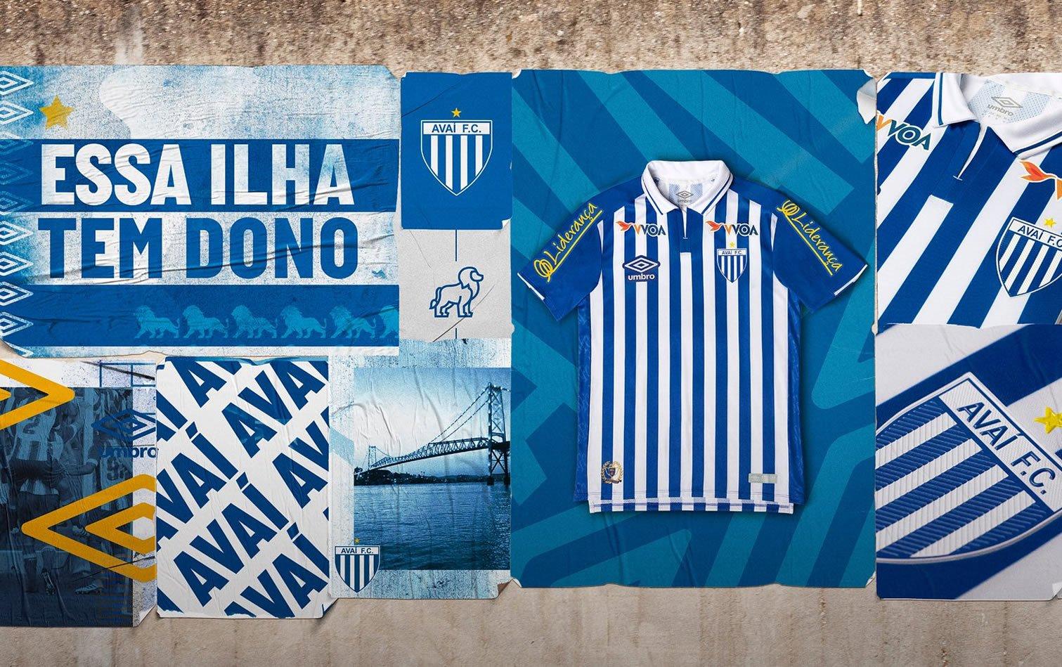 Camiseta titular Umbro del Avaí FC 2019/20 | Imagen Web Oficial