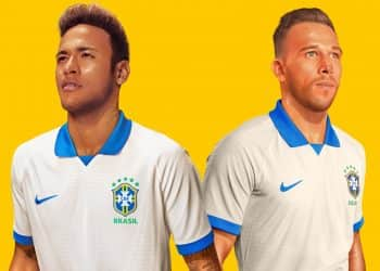 Neymar y Arthur con la camiseta blanca de Brasil 2019 | Imagen Nike