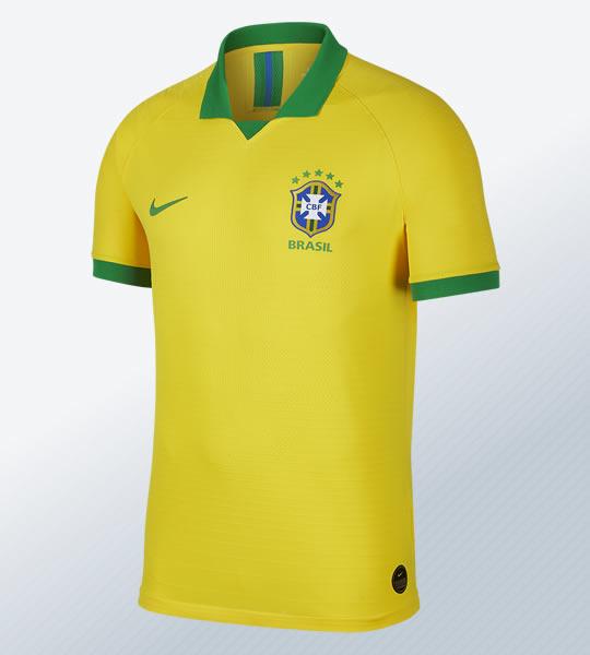 Camiseta titular de Brasil Copa América 2019 | Imagen Nike