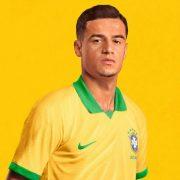 Couthino con la camiseta titular de Brasil Copa América 2019 | Imagen Nike