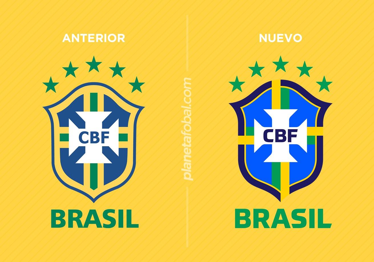 Escudo anterior y el nuevo de la selección brasileña masculina   Imágenes CBF