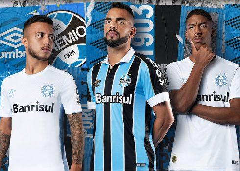 CAmisetas Umbro 2019/20 del Grêmio FBPA | Imagen Web Oficial