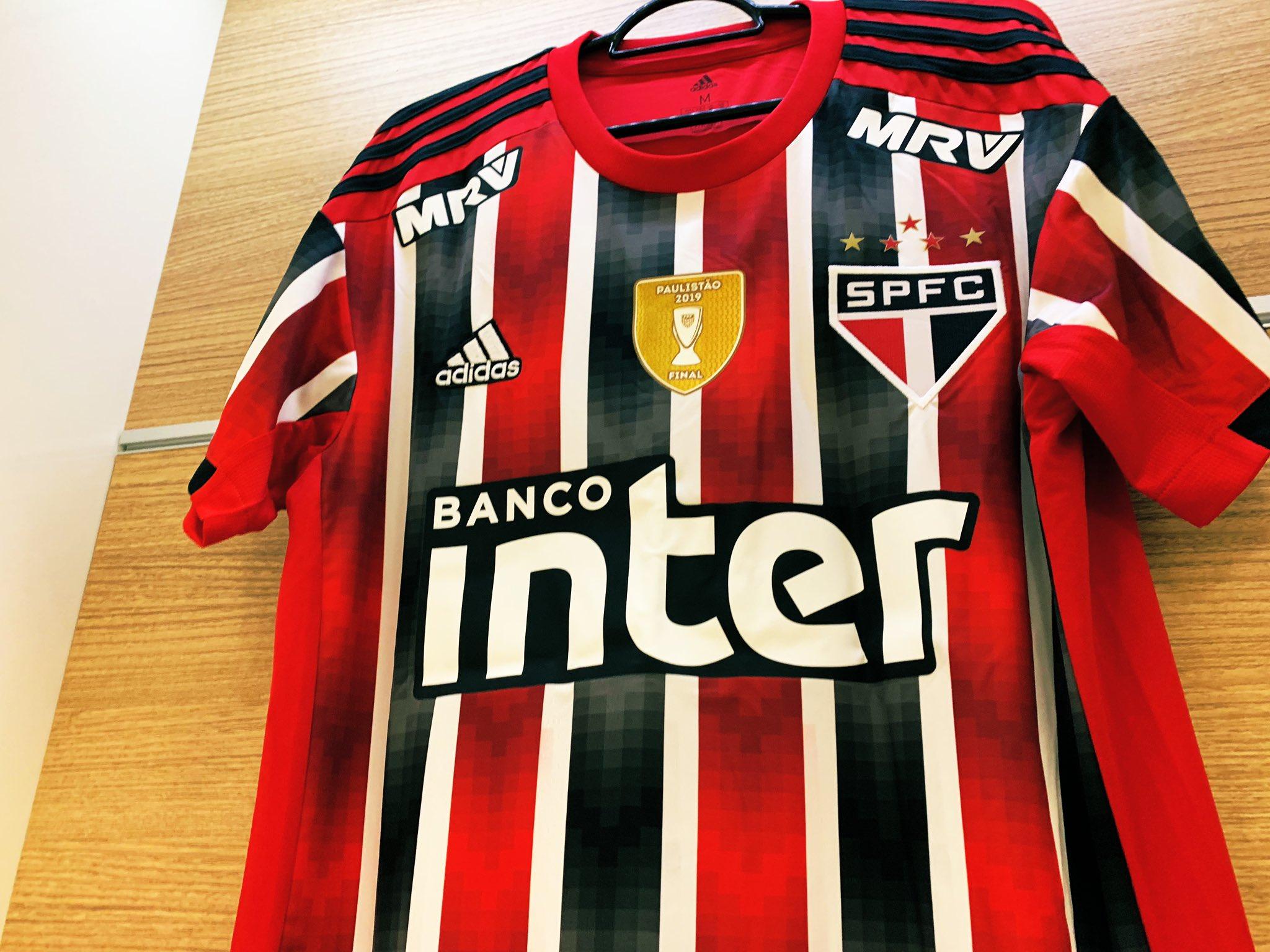 Camiseta suplente del São Paulo FC 2019/20   Imagen Twitter Oficial