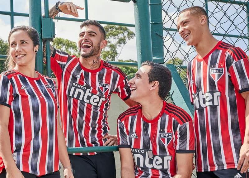 Camiseta suplente del São Paulo FC 2019/20   Imagen Adidas