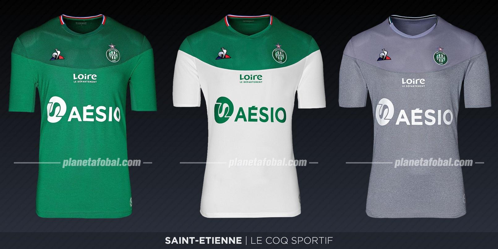 Saint-Étienne (Le Coq Sportif) | Camisetas de la Ligue 1 2019-2020