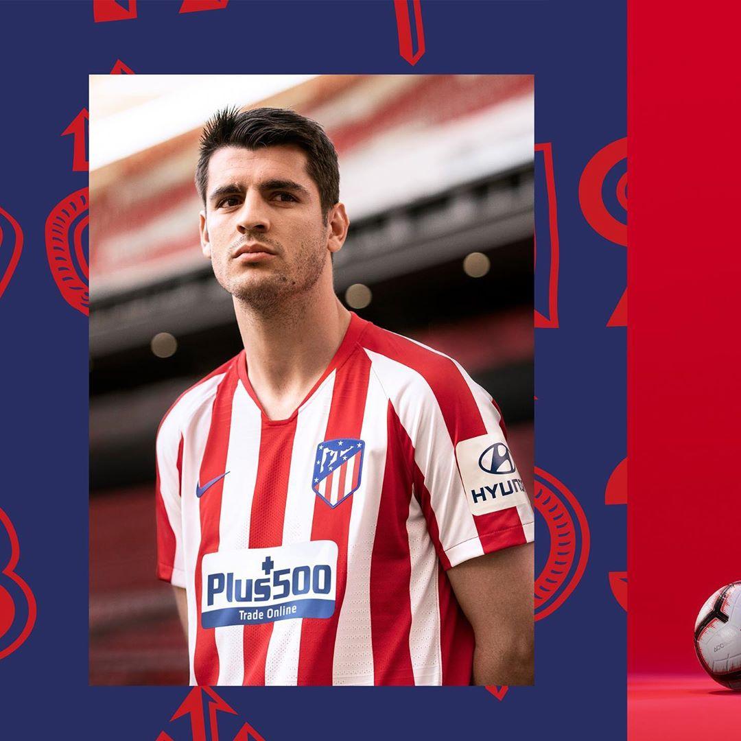 Álvaro Morata con la nueva equipación titular del Atlético de Madrid Temporada 2019/20 | Imagen Instagram Oficial