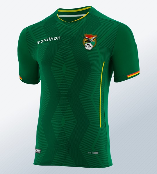 Camiseta titular de Bolivia Copa América 2019 | Imagen Marathon