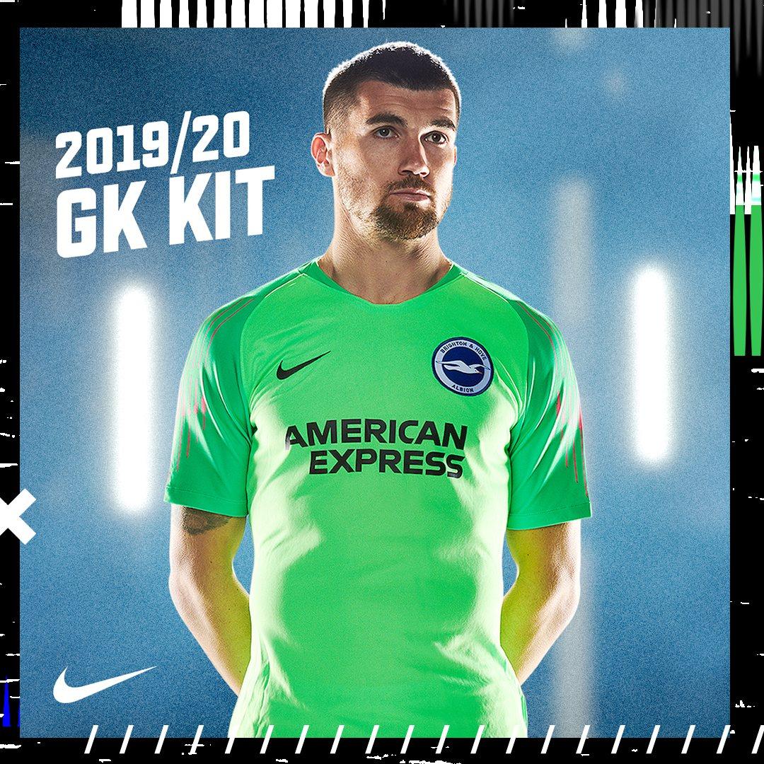 Camiseta de arquero Nike del Brighton & Hove Albion 2019/20 | Imagen Web Oficial