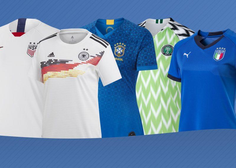 Las camisetas del Mundial Femenino 2019