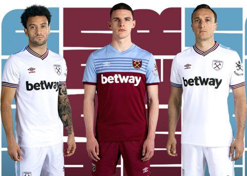 Camisetas Umbro del West Ham 2019/20 | Imagen Web Oficial