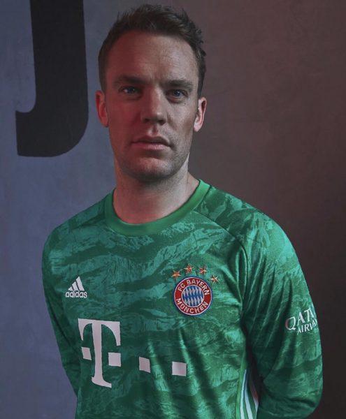 Manuel Neuer con la nueva camiseta de arquero del Adidas del Bayern Munich 2019/2020 | Imagen Web Oficial